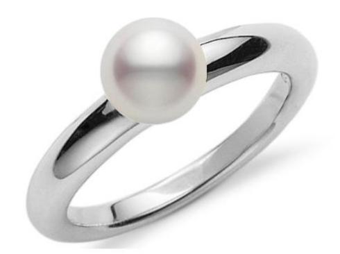 $750.00 Akoya 6.5mm A+ Pearl Ring