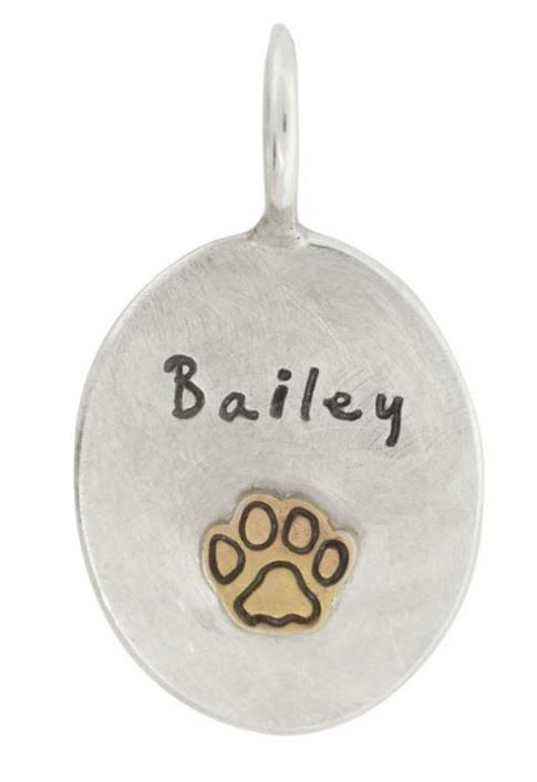 $311.00 Pet Name Oval Charm