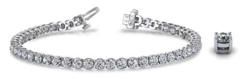 $6,650.00 18kw Straight Line Cultured Lab Grown Diamond Bracelet 7.04ctw
