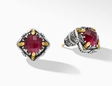 $595.00 Ruby DBLT Earrings