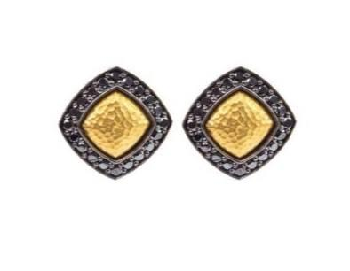 $1,400.00 Black Diamond Outline Petit Earrings