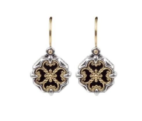 $630.00 Sterling Silver & 18k Gold Earrings