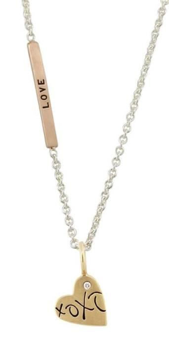 $725.00 Gold Heart XOXO Necklace