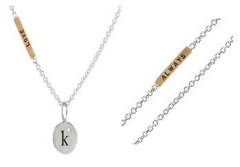 $470.00 Single Initial And Love Always Necklace