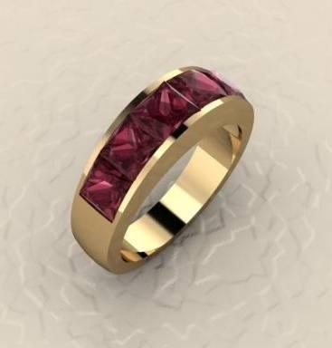 Rhodolite Garnet ring collection with 1 products
