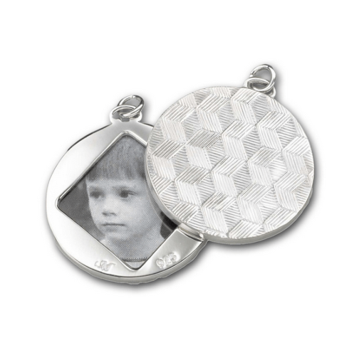 $240.00 Honeycomb Half-Locket Charm