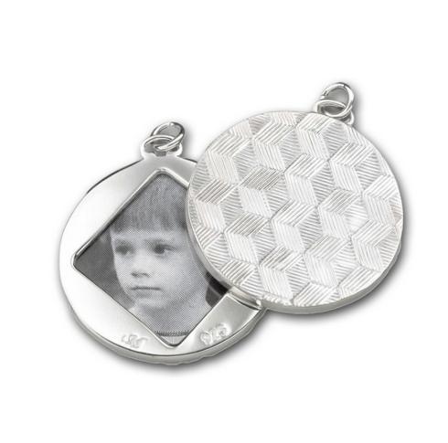 Honeycomb Half-Locket Charm