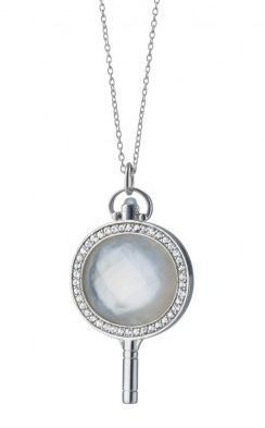 Silver Oval Pocketwatch Key
