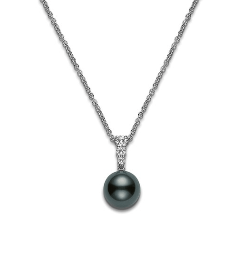 $3,150.00 Black South Sea Pearl and Diamonds