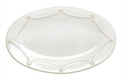 "Juliska  Berry & Thread Whitewash 12"" Oval Platter $62.00"