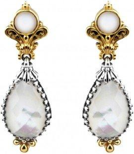 Mother of Pearl and Pearl Earrings
