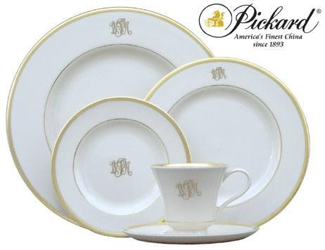 Monogram Dinner Gold Rim collection with 1 products