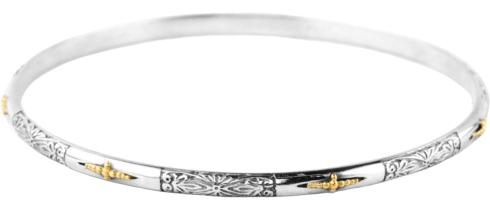 Etched Cross Bangle