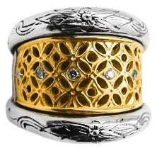 Etched Diamond Ring