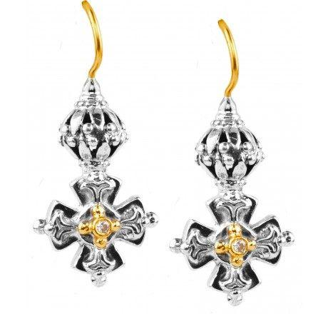 Diamond Dangle Earrings 0.03tdw