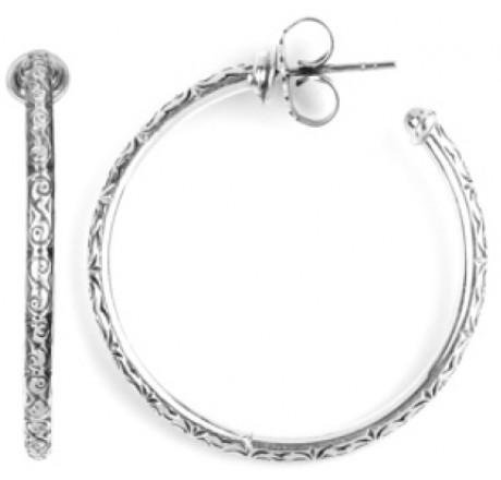 $225.00 Medium Etched Hoop Earrings