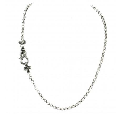Snake Detail Necklace 18 Inch