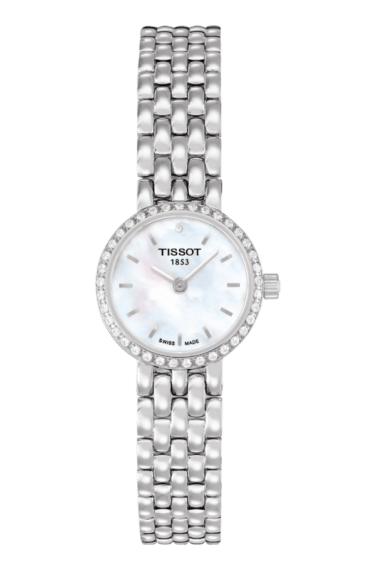 $462.50 Lovely Women\'s Quartz Diamond White Mother of Pearl Dial Watch With Stainless Steel Bracelet