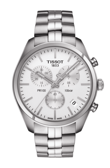 $340.00 Mens Tissot PR100 Bracelet Chronograph Watch
