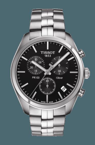 Mens Tissot PR100 Bracelet Chronograph Watch
