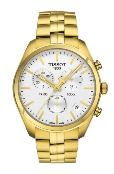 $420.00 Mens Tissot PR100 Bracelet Chronograph Watch