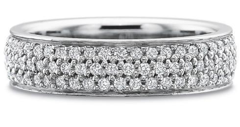 Full Round Two Row Diamond Band