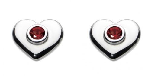 $35.00 January Heart Earrings