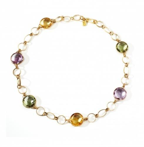 $6,800.00 Iride Necklace with Diamonds and Gemstones