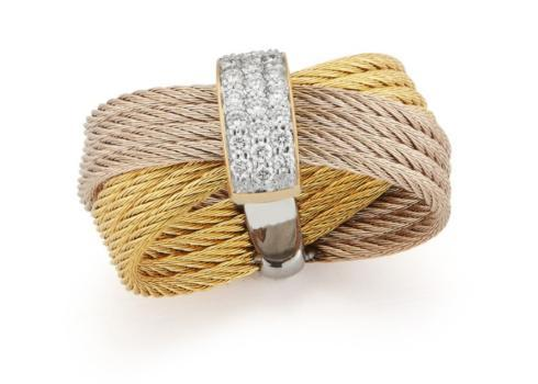 $750.00 Carnation/Yellow cable w/18kwg Diamond Ring