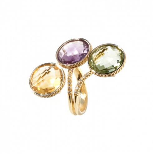 $1,425.00 Iride Ring with Diamonds and Gemstones