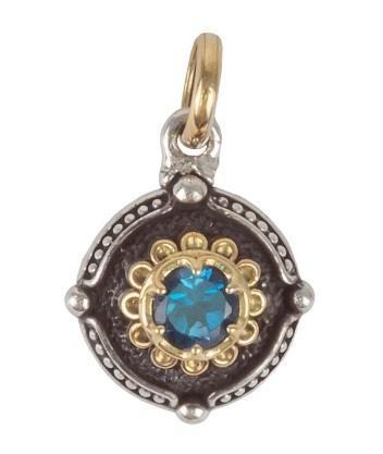 Sterling Silver & 18K Gold Pendant