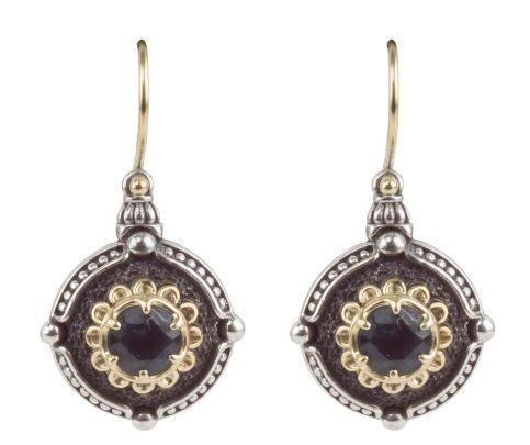 Sterling Silver & 18K Gold round petite Earrings