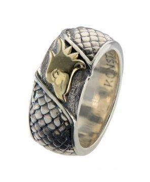 Sterling Silver and 18K Ring