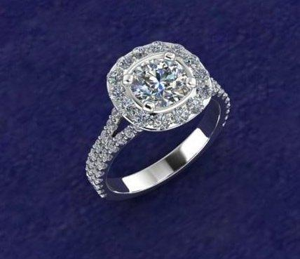 $0.00 wider halo engagement ring