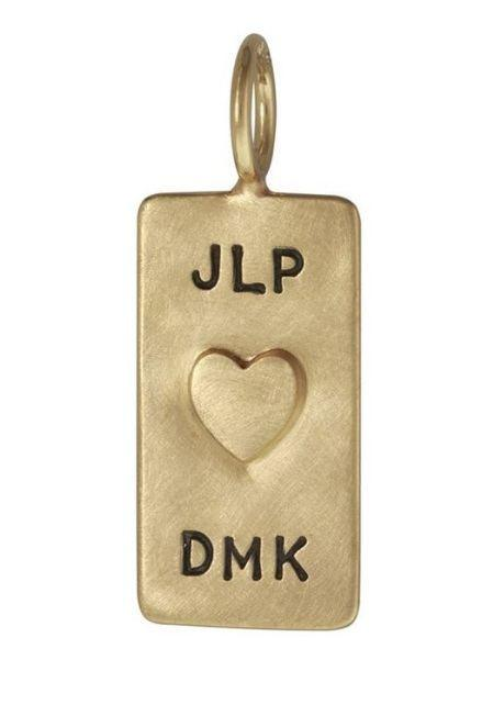 $533.00 Yellow Gold Double Monogram ID Tag