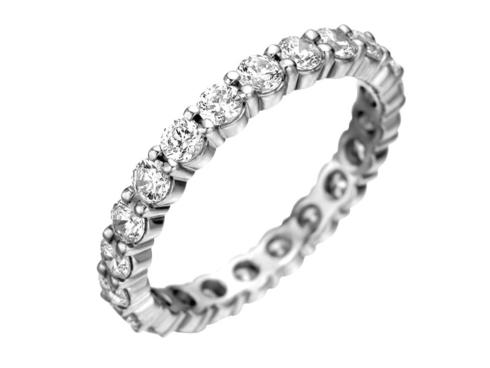 $10,000.00 Petite Prong Diamond Eternity Ring