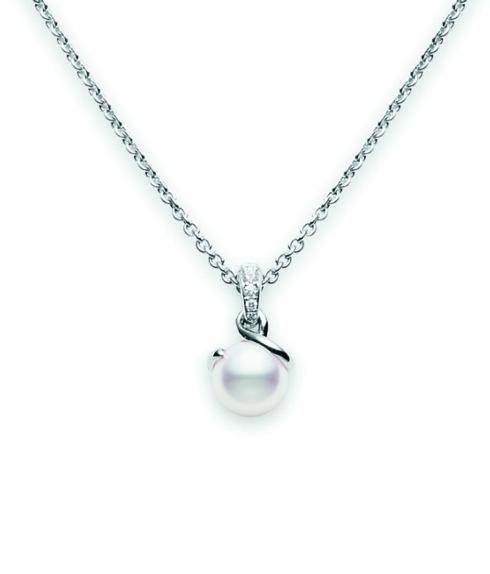 $2,500.00 Akoya Cultured Pearl Twist Pendant