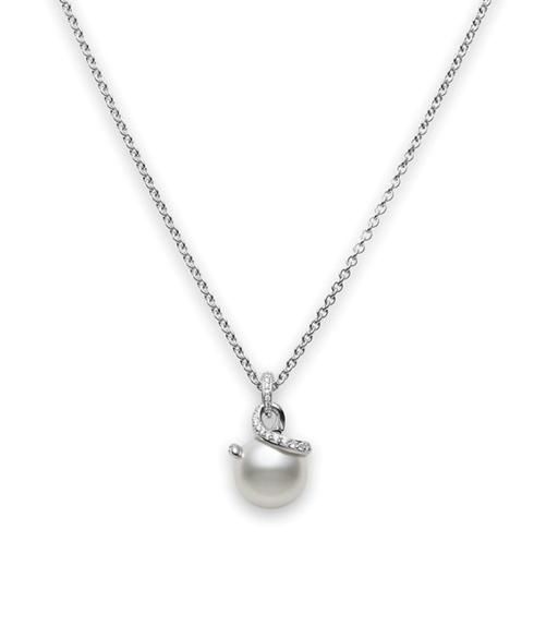 $5,700.00 Twist White South Sea Cultured Pearl Pendant