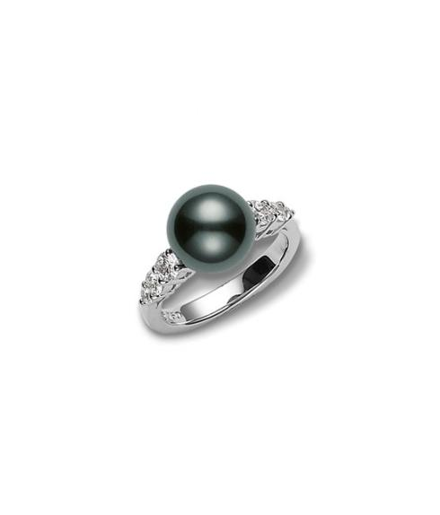 $3,250.00 Morning Dew Black South Sea Cultured Pearl Ring