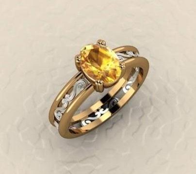 $0.00 Custom Yellow Sapphire Ring