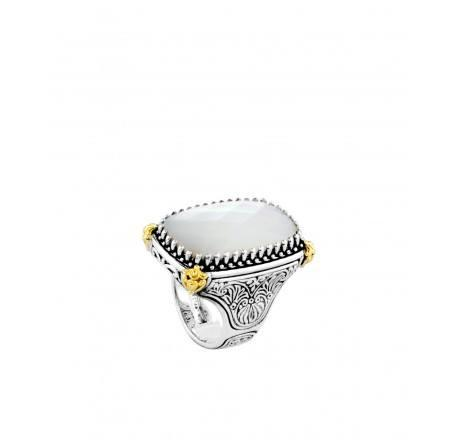 $510.00 Rectangle Mother of Pearl Ring