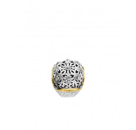 $840.00 Sterling and 18k Ring