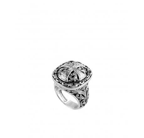 Sterling Cross Ring