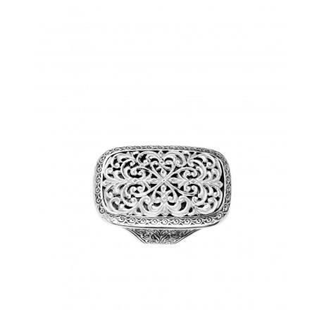 $320.00 Rectangle Filigree Ring