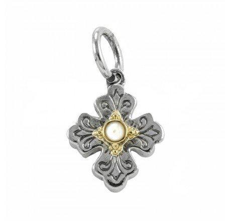 $130.00 Pearl Cross Charm