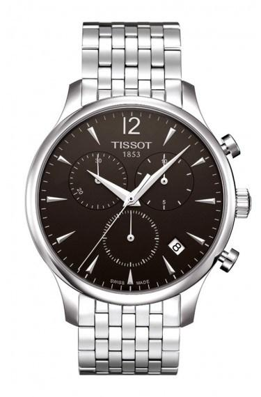 $495.00 Tradition Men\'s Chrono Quartz Anthracite Dial Watch With Stainless Steel Bracelet