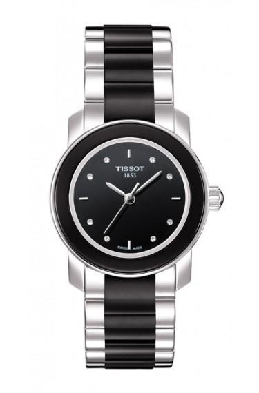 $247.50 Cera Women\'s Quartz Diamond Index Black Dial Watch With Stainless Steel Bracelet