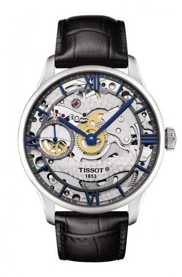 $2,050.00 Chemin Des Tourelles Squelette With Black Leather Strap