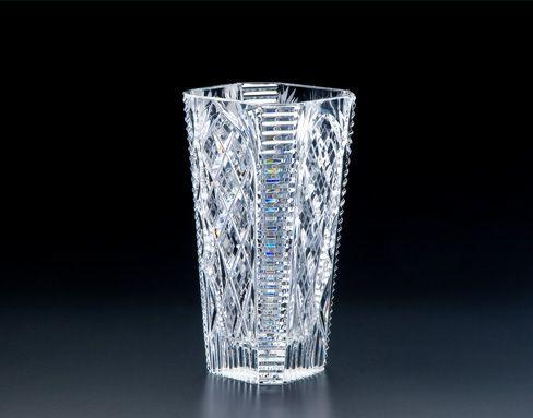 """$438.00 9"""" Octagonal Vase"""