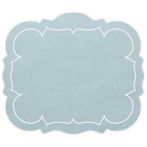 SOUTH Exclusives   Linho Rectangle Placemats - Blue/White, Set of 4 $100.00